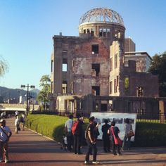 It's important to remember the past! #hiroshima #atomicbombdome #japan  (hier: 原爆ドーム (Atomic Bomb Dome))