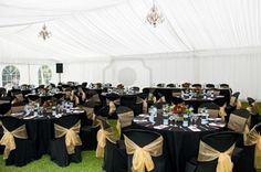 Image detail for -Wedding Marquee In Black And Gold Theme Royalty Free Stock Photo ...