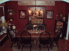 red primitive didning room lisa phillips barton phillips barton phillips barton phillips. beautiful ideas. Home Design Ideas