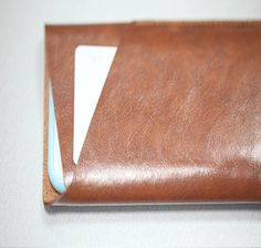 iPhone6/ iPhone6 plus 4.7/5.5寸 超纖皮手機套+卡片袋 啡色 - Luffy Handmade | Pinkoi