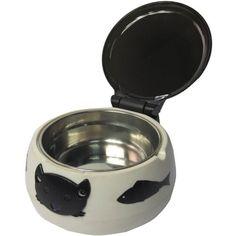 Automatic Open Close LID Infrared Sensor CAT Feeder Bowl Dish Keeps Food Fresh | eBay