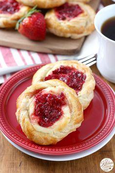 Easy Strawberries and Cream Danishes Recipe from @akitchenaddict