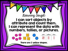 sort and count, first 1st grade ready math, common core, curriculum associates, unit 7 lesson 29, learning target poster