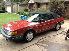 And then there was a 1991 Saab 900 convertible. The first time I had spent a lot of money to have really nice, new-ish car. I finally had a Saab convertible! My wife (at the time) got in an accident in this car and it rolled 3-4 times... She was fine. The car held up remarkably well.... but it was still totaled...