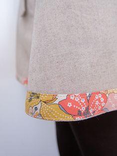 Pretty Liberty bias binding used to hem this skirt