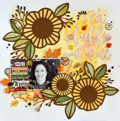 I Like Fall Most Of All - A Stash Bash layout focusing on 6x6 paper pads. I love backing my digital cut files with them, like these Fall cut files from JustNick Studios.