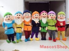 Snow white and the seven 7 dwarfs fabrict shirt iron on cheap mascot costume buy quality costume adult directly from china fancy dress suppliers 2017 new high quality 7 pcs dwarf mascot costume adult size solutioingenieria Image collections