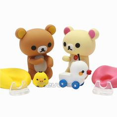 Figure Complex Character Revoltech Rilakkuma PVC Action Figure Collectible Model Toy Doll 7cm brown/pink