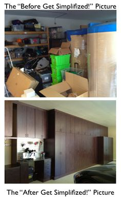 "Here are ""Before and After"" pictures of a garage I recently remodeled and organized for a client.  It was a big job where I managed 7 different sub-contractors to give my client the garage of her dreams!  Lots of fun, and she LOVES the finished product!  You can read more at http://GetSimplifized.com"
