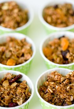 olive oil granola... similar to how I make mine already, but I love the idea of using olive oil instead of grapeseed!