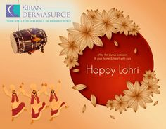 #Enjoy the festive season  #Sing and #Dance with #Fun Wishing you happiness on this #Lohri #KiranDermasurge