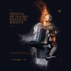 Campaña Festival de Teatro para el Banco de Bogotá. Characters.