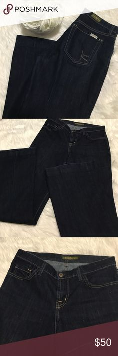 David Kahn dark wash jeans Wide leg dark wash David Kahn jeans. In perfect condition. Size 27/2-4, inseam from crotch to leg is 31 inches   { I am not a professional photographer, please keep in mind actual color may vary slightly from pics} +20% off bundles of 2 or more items +No trades  +No holds +No lowball offers please David Kahn Jeans Flare & Wide Leg