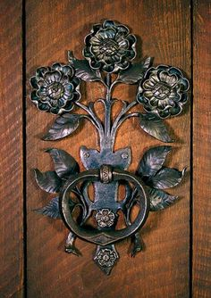 Exquisite floral door handle by Carl Close Jr., Hammersmith Studios www.hammersmithstudio.com