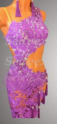 U3505 Cocktail Ballroom latin chacha swing samba rumba standard dance dress US 2 #Seavex