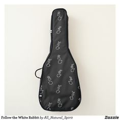 Follow the White Rabbit down to Wonderland with this Wacky Guitar Bag! Available in two styles! Make It Yours @ https://www.zazzle.com/z/yn9be?rf=238562247198752459 #Zazzle #Black #Adventure #FollowtheWhiteRabbit #AliceInWonderland #Style #Fashion #Bag #AllNaturalSpirit #Zazzle