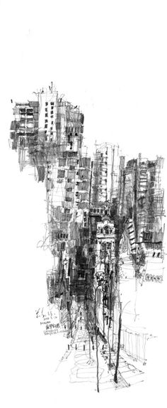 Illustration / Sketch / Macau Sketch, by Kiah Kiean. Architecture Graphics, Architecture Drawings, Art Sketches, Art Drawings, Illustration Art, Illustrations, Urban Sketching, Macau, Urban Landscape