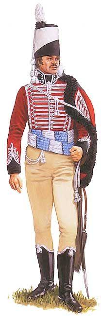 Униформа офицера 8-го прусского гусарского полка фон Блюхера (von Blücher), 1806 год - Uniformen Offizier der preußischen Husaren 8. von Blücher (von Blücher) 1806