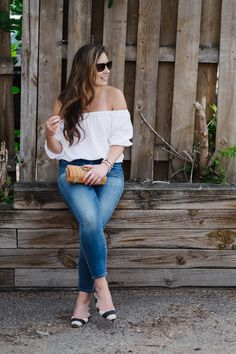 off-the-shoulder blouse for an easy, breezy summer