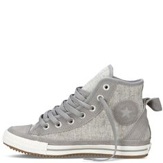 Converse - Chuck Taylor Elsie - Hi - Grey from Converse. Shop more products from Converse on Wanelo. Trendy Shoes, Cute Shoes, Me Too Shoes, Casual Shoes, Converse Shoes, Shoes Sneakers, Women's Vans, Shoes Jordans, Custom Converse