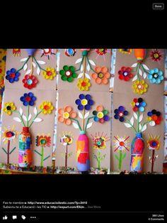 Primavera con botellas taponesy mucho color