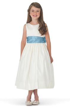 Us Angels Sleeveless Satin Dress with Contrast Sash (Toddler Girls, Little Girls & Big Girls) available at #Nordstrom