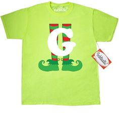 7eb34b03bfe Inktastic Christmas Elf Feet Letter G Monogram T-Shirt Red And Green Holiday  Cute Kids Elves Name Alphabet Santa Initial Monogrammed Hat Mens Adult  Clothing ...