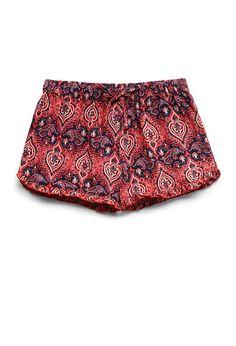 Ruffled Paisley Drawstring Shorts (Kids)   FOREVER21 #F21Girls