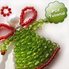 DIY PDF Tutorial Little Angel Beaded Ornament by CraftsAndPixels