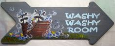 Sign Plaque raccoons and wash tub Washy by CritterArtDelights