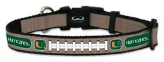 Miami Hurricanes Reflective Small Football Collar