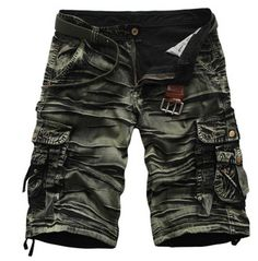 Rebelsmarket pleated design military army camouflage cargo short pants shorts and capris 3