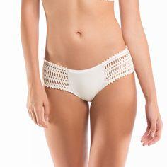 """Sophia"" Side Tab Crochet Bikini Bottom"