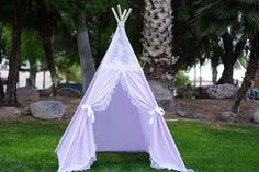 Purpleholic Kids teepee tent/kids play tent/girls tipi photo prop Wigwam or Playhouse with Door Ties/