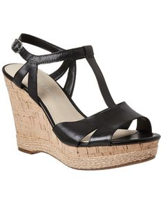Spotted this Franco Sarto Swerve Leather Wedge Sandal on Rue La La. Shop (quickly!).