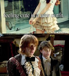 That face Ron Weasley xD I still think Ron may have some of the funniest reactions ever. XD