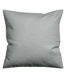 Accent Decorative Pillow Cushion Cover 100% Cotton Canvas Throw Pillow Cover Cushion 20 x 20 Inches (Gray)