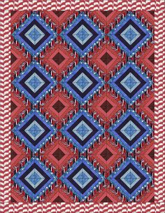 Quilts of Valor has free patriotic quilt patterns! QOV can use your help to comfort and honor our wounded servicemembers and veterans.