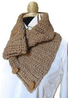 Crochet Neckwarmer Cowl Scarf Neck Warmer Chunky by KrissWool, $57.50