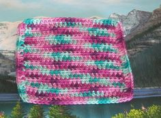 Hand crochet cotton dish cloth 7.5 by 7.5 by LandLCandlesandCraft on Etsy