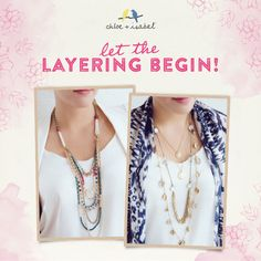 Layering is an easy and amazing way to make jewels all your own. You can take any number of pieces and mix and match with this collection. https://www.chloeandisabel.com/boutique/haleigh#20194
