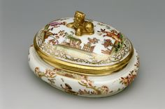 chinoiserie | Meissen sugar basin with chinoiserie decoration, c. 1725, at Saltram ...