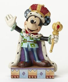 Look what I found on #zulily! Disney Mickey King for a Day Figurine #zulilyfinds