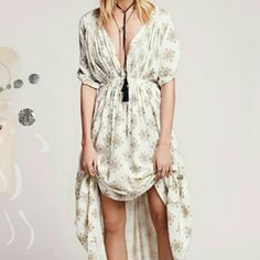 Free People Gorgeous Maxi Dress Vanilla combo Free People Dresses Maxi