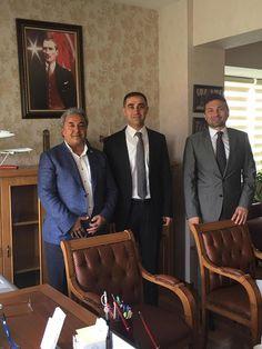 HATİAB Genel Başkanı İbrahim Güder ve ORGE Elektrik CEO'su ve HATİAB Başkan Yardımcısı Nevhan Gündüz, HSYK Hakim ve Savcılar Yüksek Kurulu Genel Sekreter yardımcısı sayın Serdar Mutta'ya nezaket ziyaretinde bulundular