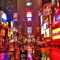 Times Square....My family and I went to NYC in 2006 and loved it! I have not travelled much in my life, but NYC was definitely an amazing experience, especially for such a small-town Canadian girl like me!  w.