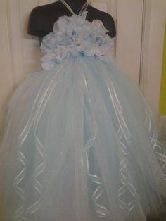 Disney Inspired Cinderella Flower Girl Tutu by ThatOldPinkShoppe, $46.00