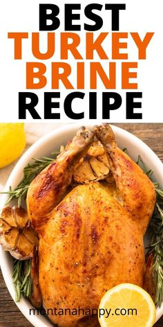 The Best Turkey Brine Recipe - brining your turkey takes it to a whole new level. This is an amazing recipe for the best brined whole turkey. Thanksgiving wouldn't be the same without roasted turkey! Best Turkey Brine, Best Turkey Recipe, Whole Turkey Recipes, Thanksgiving Recipes, Fall Recipes, Thanksgiving Turkey, Brine Recipe, Roasted Turkey, Crockpot Recipes