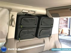 The Ocean Window Bag - this will fit: the Ocean, Coast, Comfortline & Beach with 2 seater bench Suv Camping, Camping Life, Vw California Camper, T6 California Beach, California Camping, Camper Van Life, Car Camper, Vw T5, Astuces Camping-car