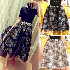 CROP TOP AND SKIRT CASUAL NONE A-LINE PRINT SAIA MIDI SKIRT